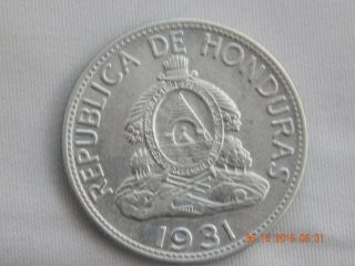 1931 Honduras Un Lempire Au - Unc - 550,  000 Minted 84 Years Ago photo