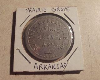 Rare Southern Mercantile Token - Prairie Grove,  Arkansas photo