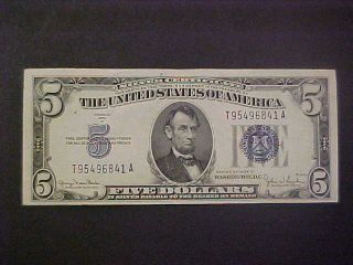 1934 - D United States Silver Certificate Note - 5 Dollars photo