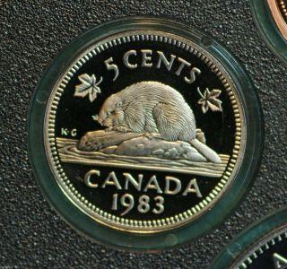 1983 Canada 5 Cent Proof Finish Coin - Heavy Cameo photo