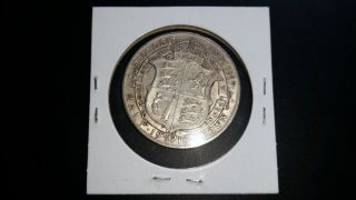 1918 United Kingdom Half Crown Silver Coin photo