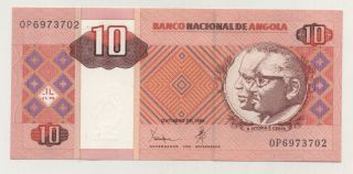 Angola 10 Kwanzas Oct.  1999 Pick 145 Unc Uncirculated Banknote photo