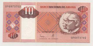 Angola 10 Kwanzas Oct.  1999 Pick 145 Unc Uncirculated Banknote photo