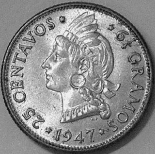 Dominican Republic 1947 25 Centavos - - - Unc - - - photo