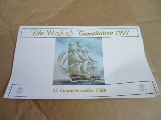 U.  S.  S.  Constitution $5 Commemorative Coin Marshall Islands Uncirculated photo