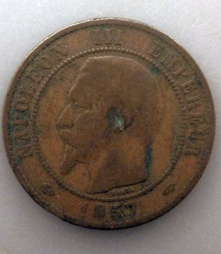 France 10 Centimes,  1857 A Km 771.  1 Puqrqy photo