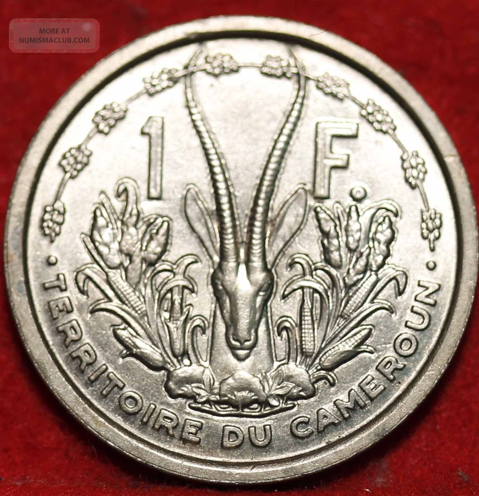 Uncirculated 1948 French Cameroun 1 Franc Foreign Coin S H