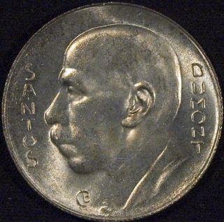 1938 Brazil Silver 5000 Reis Gem photo