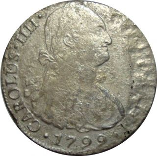 1799 Peru 8 Reales Limae I.  J.  - Scarce Silver Coin In Km: 96 photo