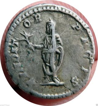 Septimius Septimus Severus,  Ancient Ar Roman Silver Coin,  193 Ad photo