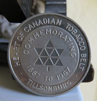 1967 Centennial Canada Token - Tillsonburg Ontario Tobacco Medallion photo