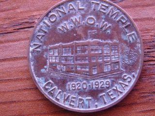 Calvert Texas Token National Supervisor & Founder Jh Anderson National Temple photo
