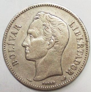 Venezuela Gram 10,  2 Bolivares 1905 Rare Date Scarse Coin Km Y 23 photo