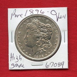 1896 O Morgan Silver Dollar 67089 Coin Us Rare Key Date Estate photo