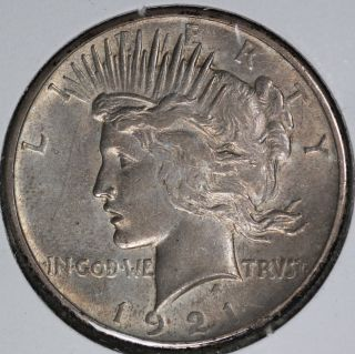Xf/au 1921 Peace Dollar photo