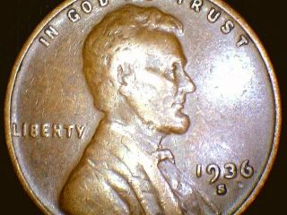 1936s Lincoln Wheat Penny Cent,  Coin photo