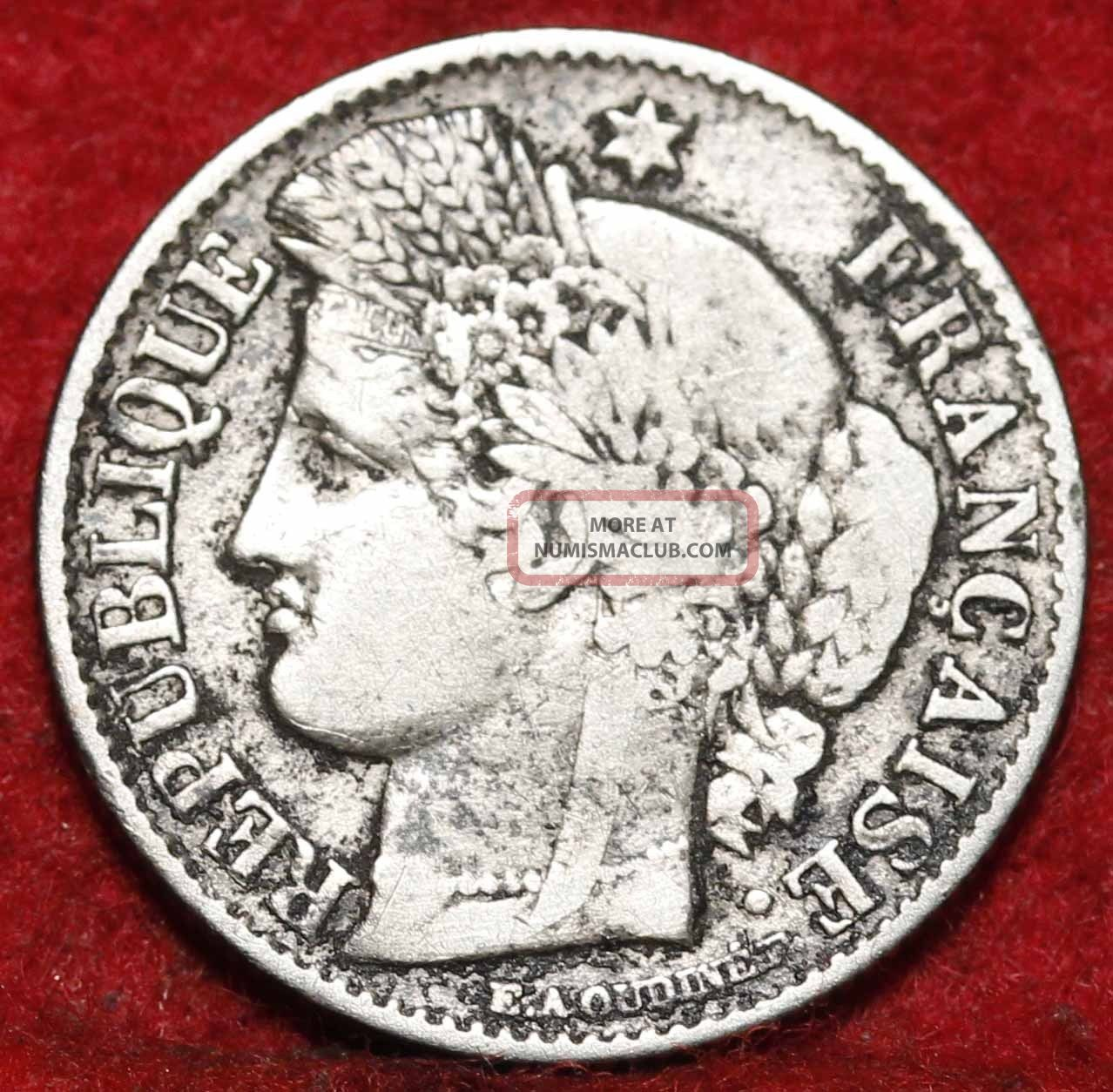 1851 - A France 50 Centimes Silver Foreign Coin S/h Europe photo