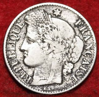1851 - A France 50 Centimes Silver Foreign Coin S/h photo