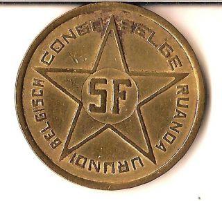 Belgian Congo/ruanda - Urundi: Very Scarce 5 Francs 1952 Km 1 Grade photo