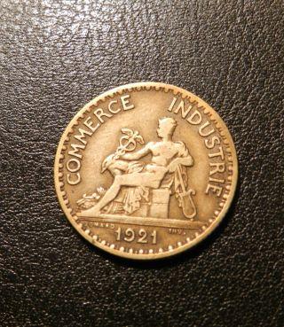 France Franc,  1921 - Coin photo