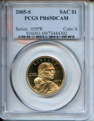 2005 S Pcgs Pf69 Dcam Sacagawea Dollar An3123 photo