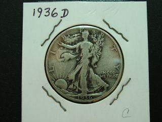 1936d Walking Liberty Half Dollar photo