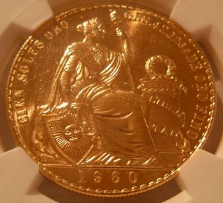 Peru 1960 Gold 100 Soles Ngc Ms - 64 Seated Liberty photo