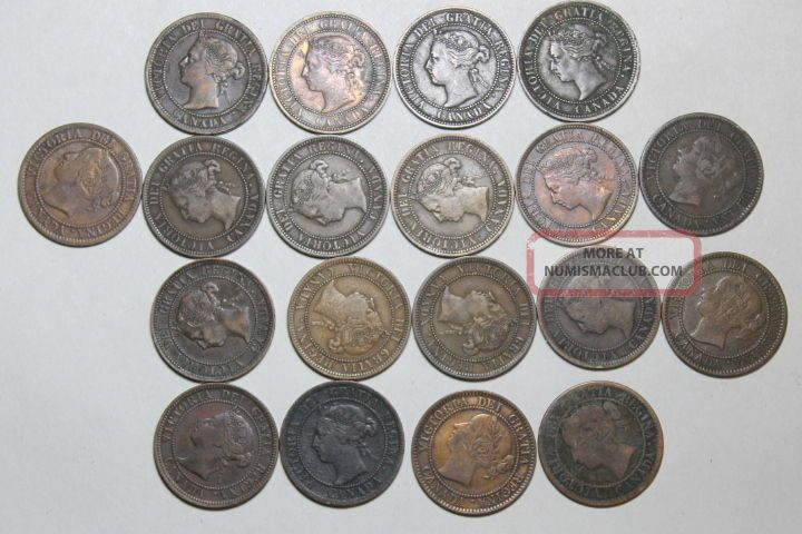 19 Canadian Cents 1859 - 1901 Coins: Canada photo