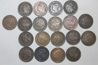 19 Canadian Cents 1859 - 1901 photo