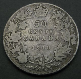 Canada 50 Cents 1910 - Silver - Edward Vii.  1834 photo