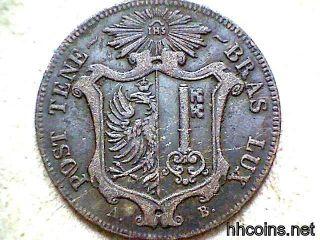 Switzerland Canton Geneve 1847 10 Centimes Billon photo