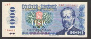 Czechoslovakia 1000 Korun 1985 Prefix C P 98a Uncirculated photo