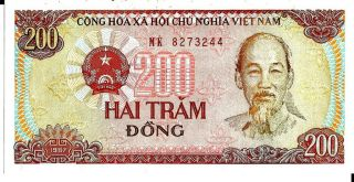Vietnam 1987 200 Dong Currency Unc photo