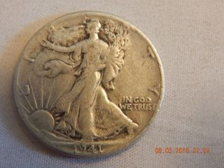 1941 50c Walking Liberty Half Dollar photo