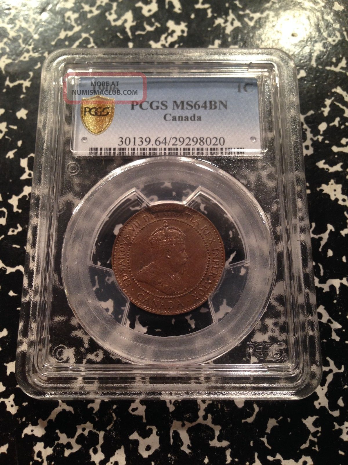 1906 Canada Large Cent Pcgs Ms64 Brown Ga026 Coin Coins: Canada photo