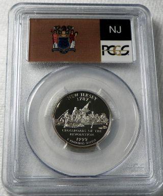 1999 - S Jersey Proof State Quarter Pcgs Pr69dcam - State Flag photo