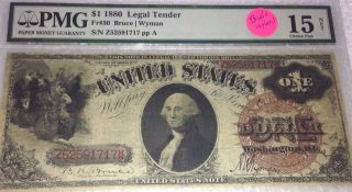 Fr - 30 1880 Series $1 Us Legal Tender Note Pmg 15 Choice Fine Paper Money Old photo