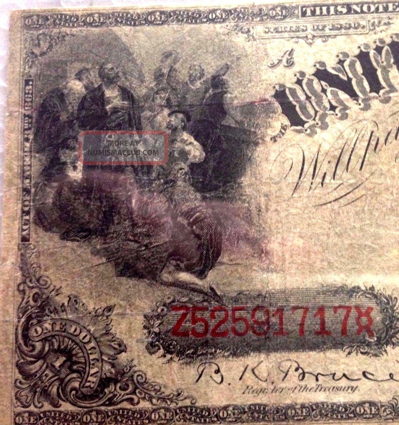 fr 30 1880 series 1 us legal tender note pmg 15 choice fine paper