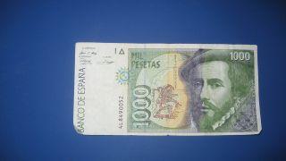Spain 1000 Pesetas 1992 photo