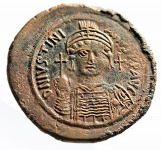 Ancient Byzantine Leo Vi Follis Coin Of 9th Century Ad Coins & Paper Money