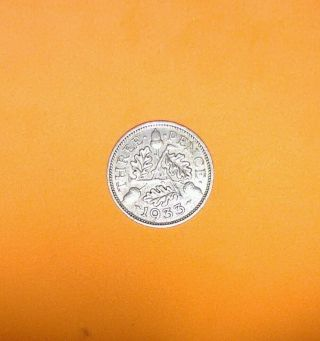 Great Britain 1933 Silver 3 Pence photo