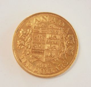 1913 Canada $10 Gold - Ef40 photo