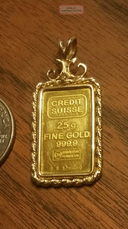Credit Suisse 2 5g 999 9 Gold Bar 881923