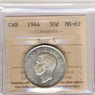 1944 50 Cents Canada