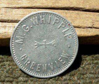 Ca 1900 Greenview California (tiny,  Siskiyou Co) Rare