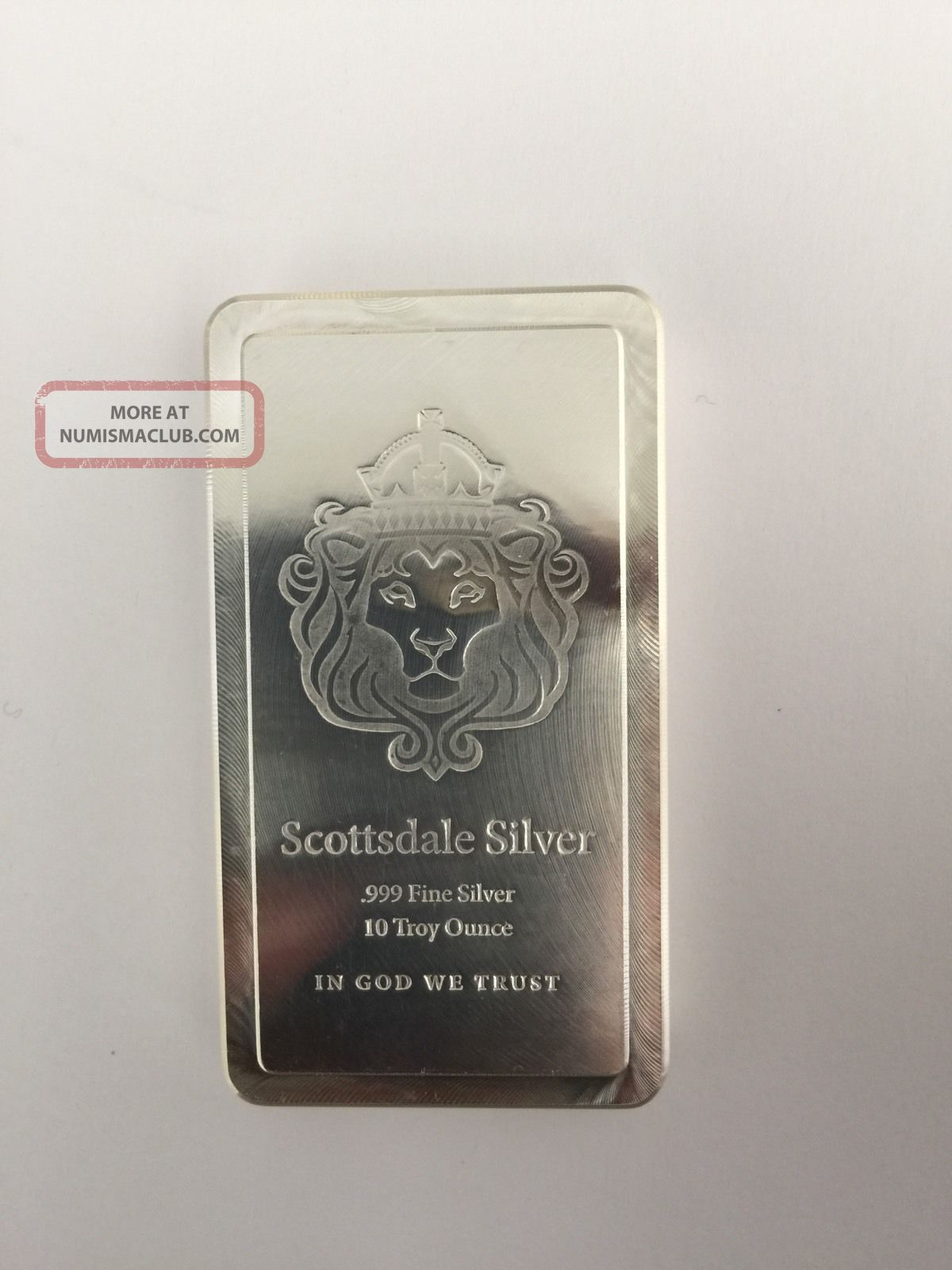 10oz Scottsdale Stacker Silver Bar 10 Troy Oz 999 Silver