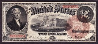 Us 1880 $2 Legal Tender Fr 50 Vf (- 983) photo