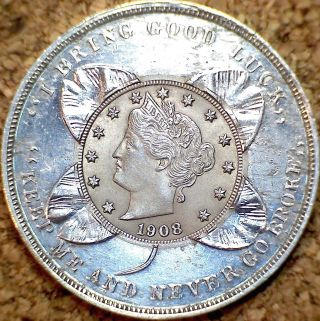 1908 Liberty Nickel - Gorgeous Ms,  Rare Watt Shipp Holder (f046) photo