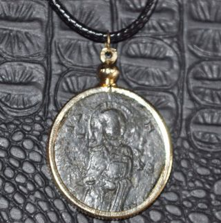 Eastern Roman Empire Byzantine Jesus Christ Authentic Follis Coin Necklace photo
