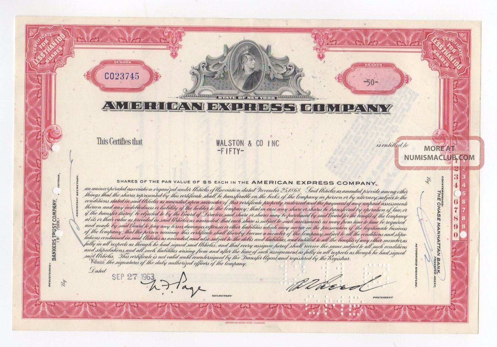 American express stock options